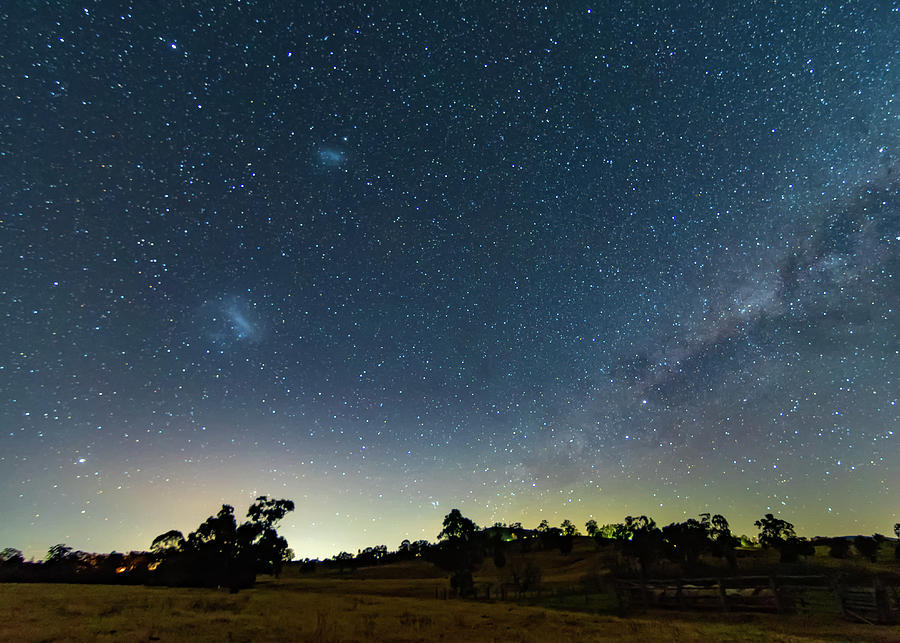 Astro Photograph - Milky Way And Countryside by Merrillie Redden