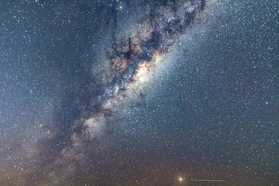 Astro Photograph - Milky Way And Mars by Merrillie Redden