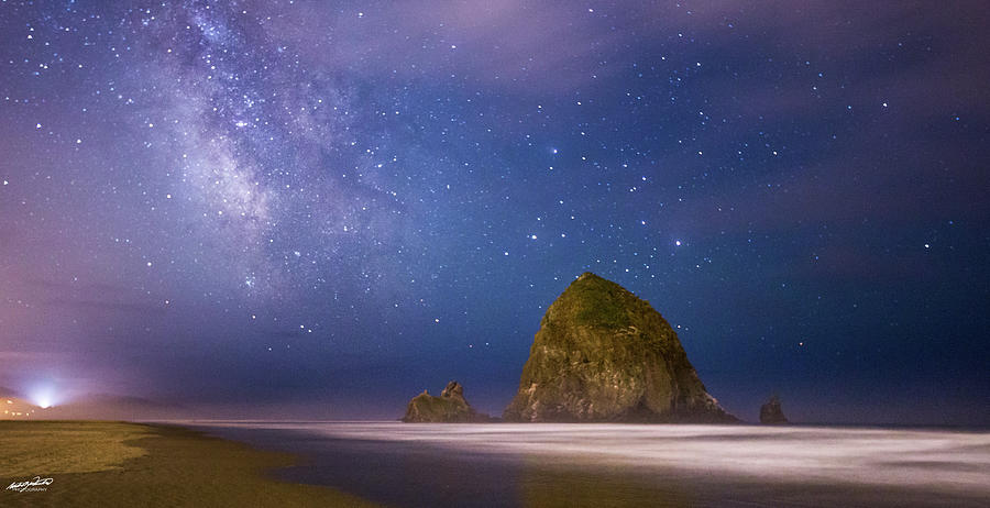 Oregon Photograph - Milky Way Over Canon Beach by Rowdy Winters