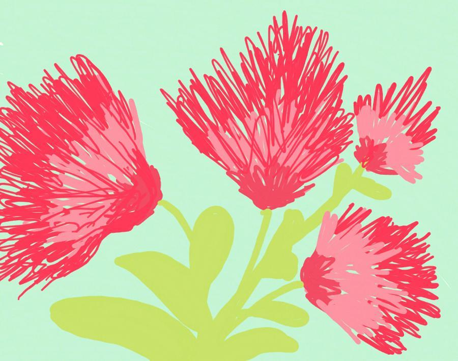 Mimosa silk flowers painting by peggy leyva conley mightylinksfo