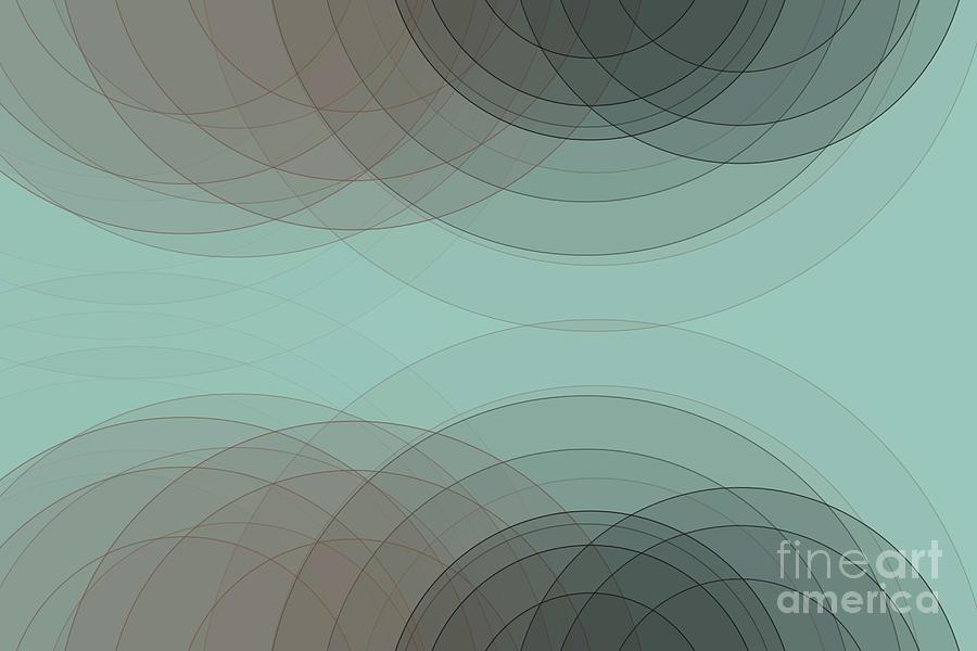 Abstract Digital Art - Mineral Semi Circle Background Horizontal by Frank Ramspott