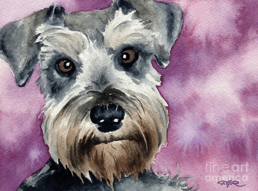 Mini Painting - Miniature Schnauzer by David Rogers