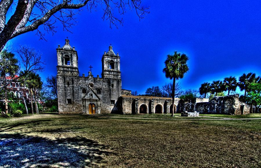 Hdr Photograph - Mission Concepcion San Antonio by Rod Cuellar