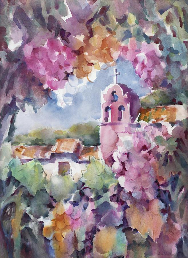 La Purisima Painting - Mission Vineyard by Joan  Jones