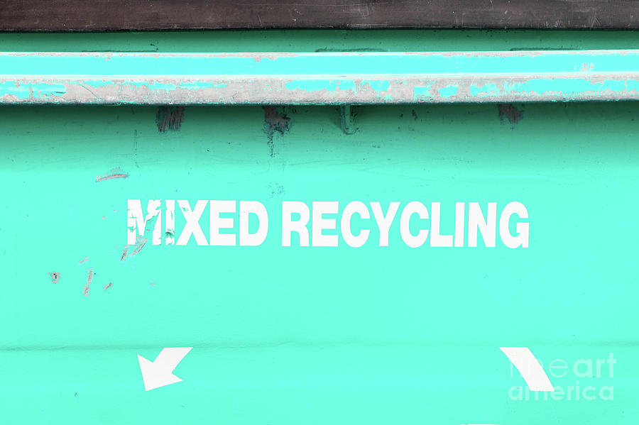 Background Photograph - Mixed Recycling Bin by Tom Gowanlock