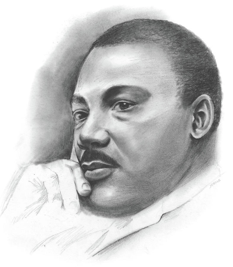 MLK Drawing by Greg Joens