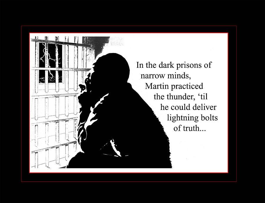 Martin Luther King Digital Art - MLK in Jail by Richard Gordon
