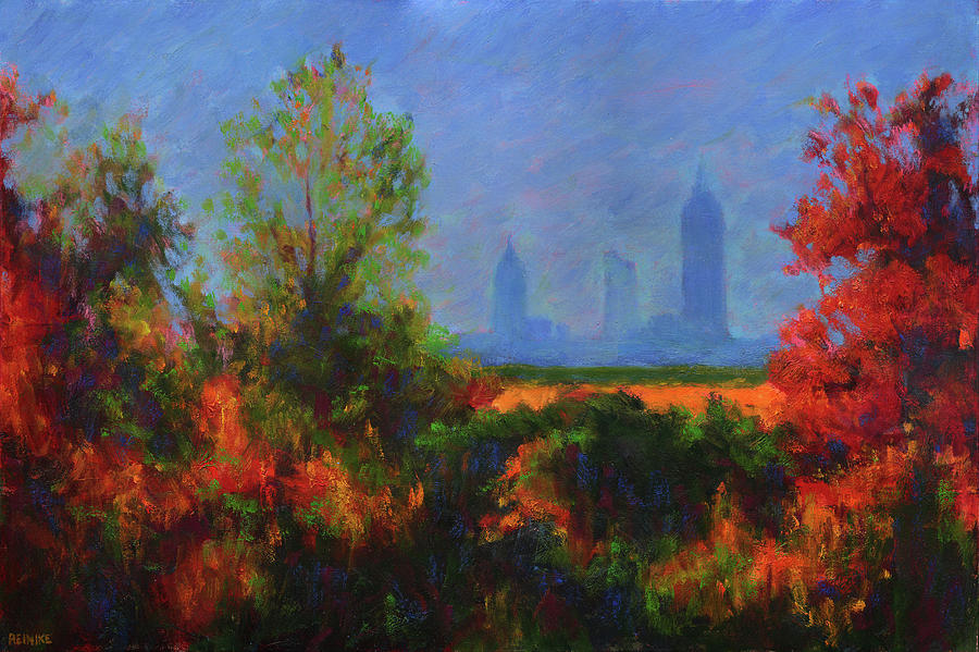 Mobile Skyline From Felixs Painting by Vernon Reinike
