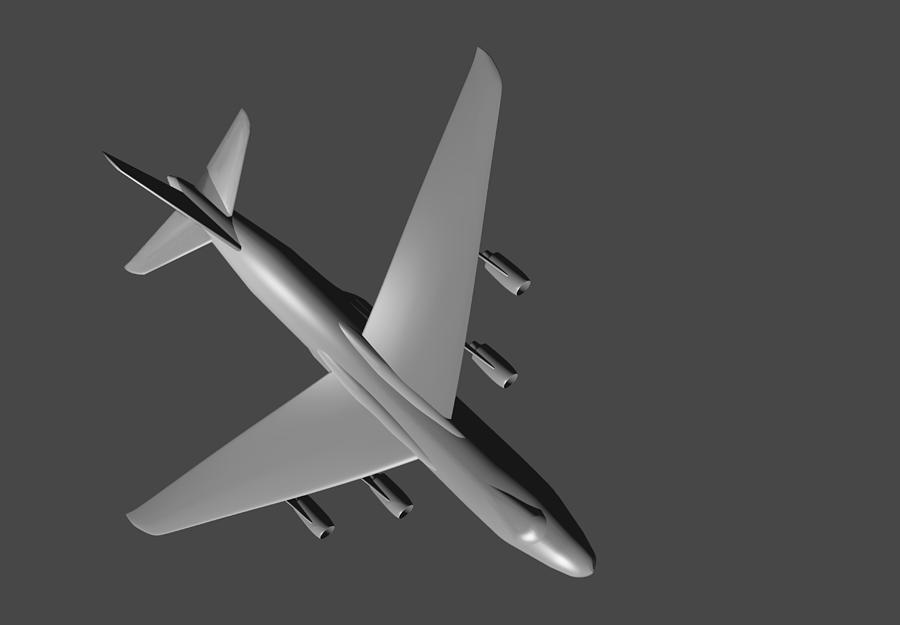 Airplane Photograph - Model Aircraft In 3d. by Alexandr  Malyshev