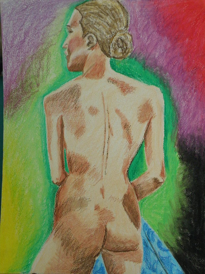 Colors Mixed Media - Model Pose 2 by M Brandl