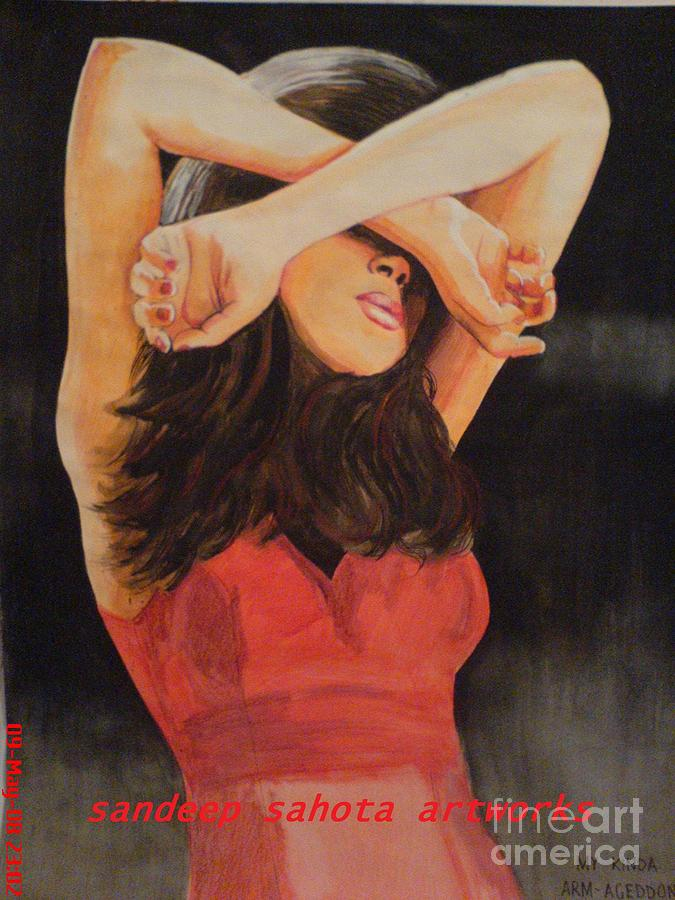 Gladiator Painting - Model by Sandeep Kumar Sahota