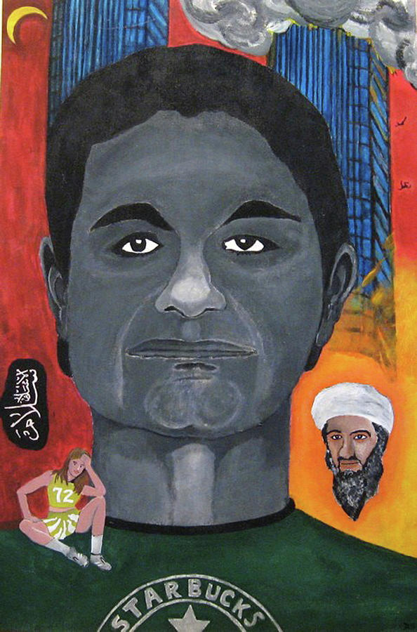 Mohamed Painting - Mohamed Atta by Darren Stein