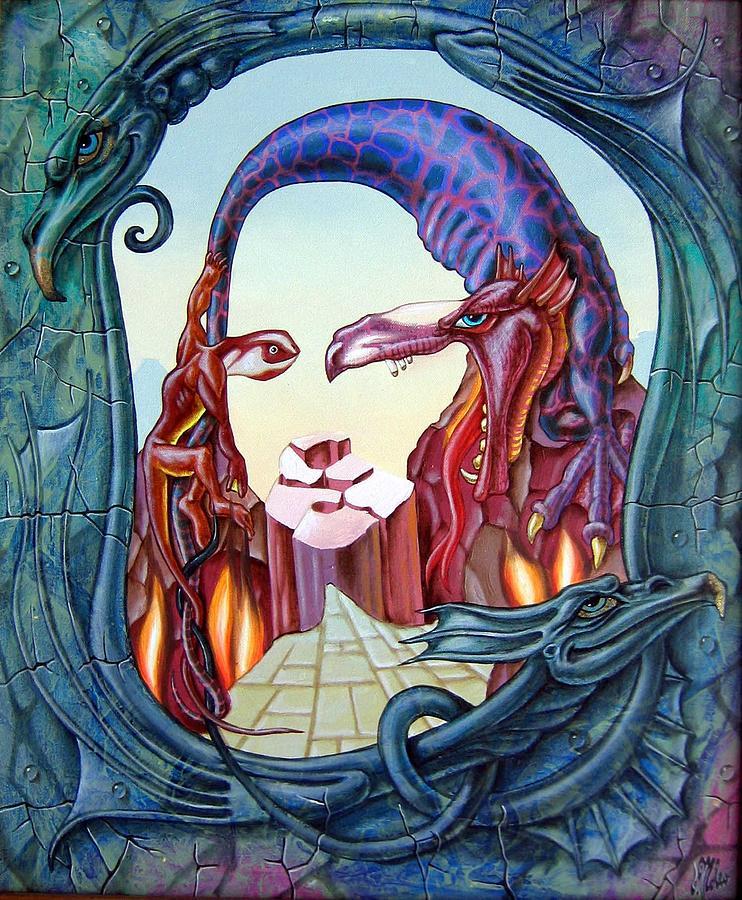Mona Lisa Painting - Mona Lisa. Fire by Victor Molev