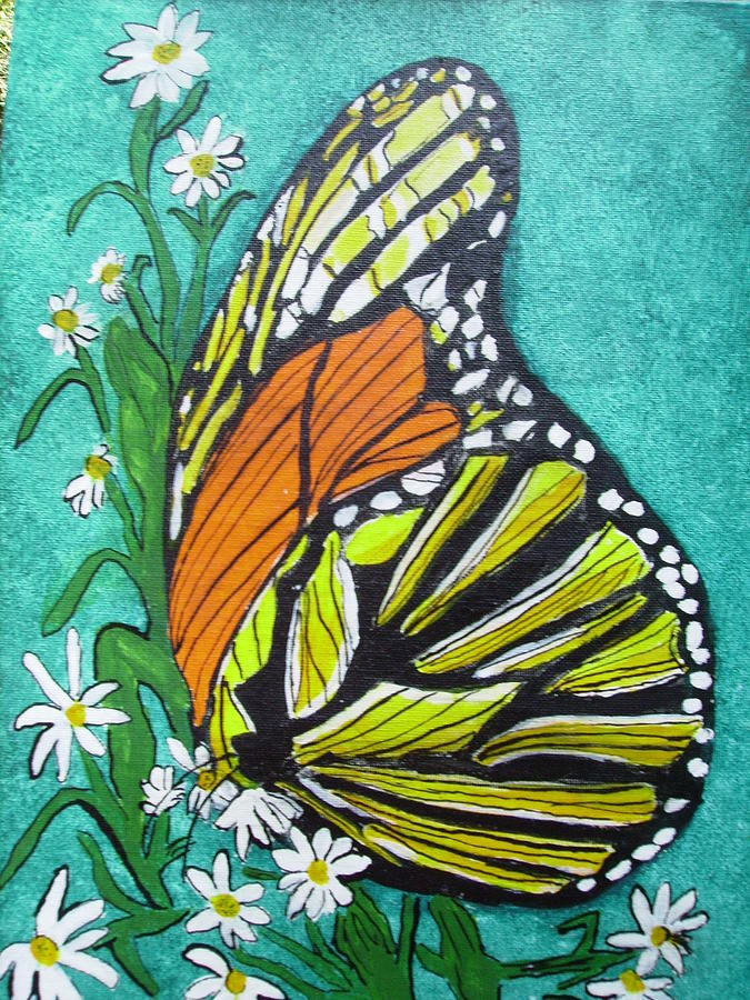 Butterfly Painting - Monarch Butterfly by Karen Salley-Rice