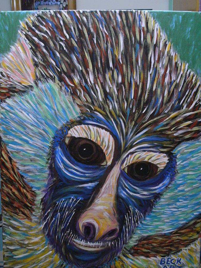Monkey Mind Painting by Becky Jenney