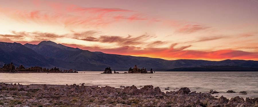 Mono Lake Sunset Pyrography
