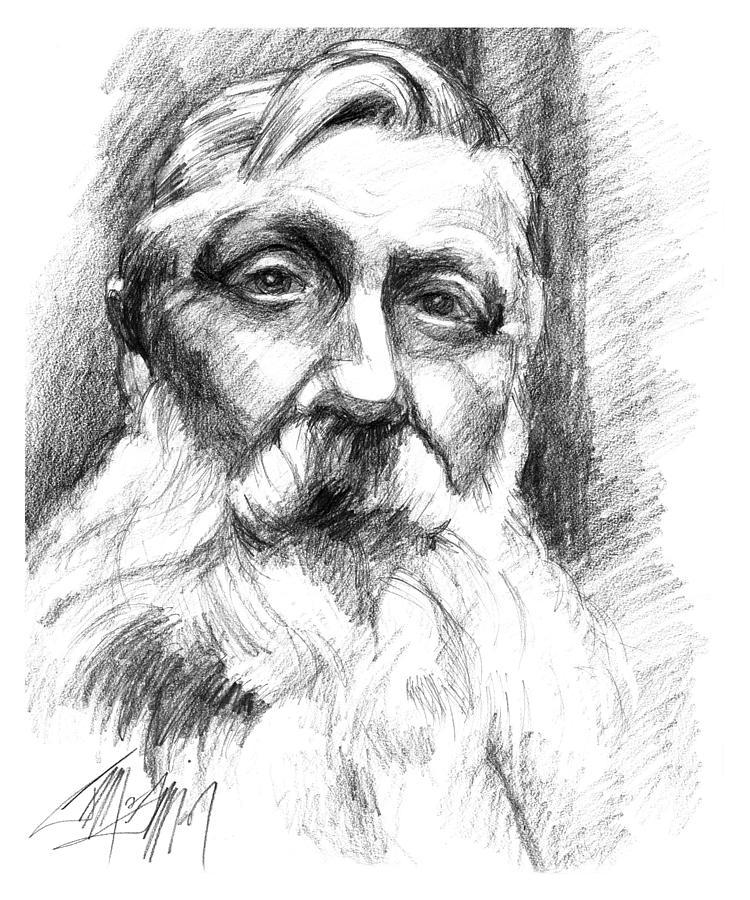 Drawing Drawing - Monsieur Rodin by James Simon
