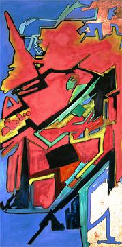 Spray Paint Mixed Media - Montana Abstract by Marshall Okin