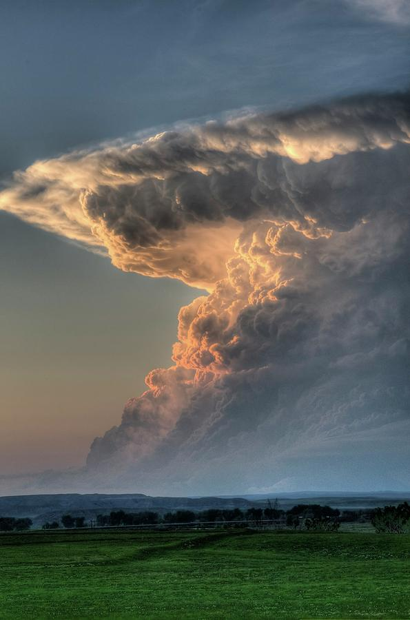 Thunderstorm Photograph - Montana Thunderstorm by Dave Rennie