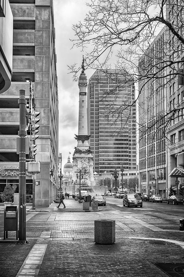 Indiana Photograph - Monument Circle by Howard Salmon