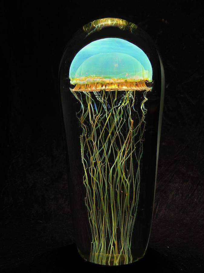Moon Jellyfish Glass Art by R Satava