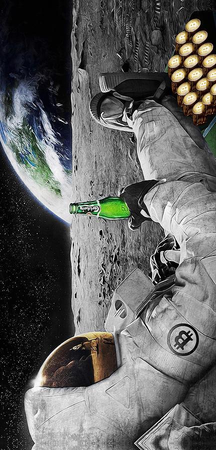 Space Digital Art - Moon Rockin by Canvas Cultures