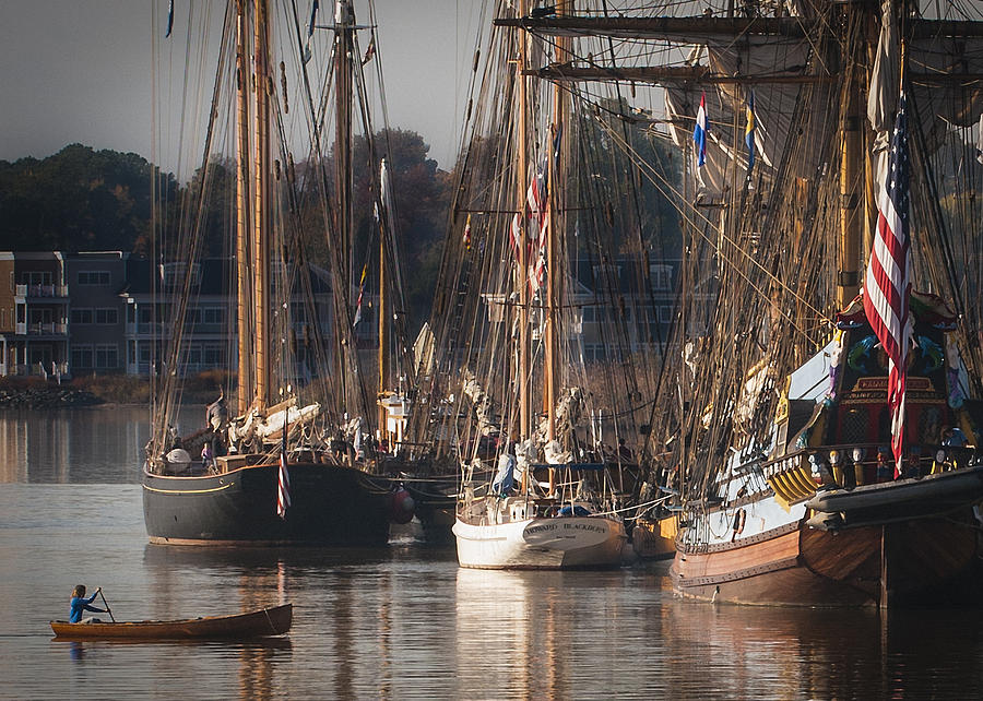 Boats Photograph - Morning Light - Chestertown Downrigging Weekend by Lauren Brice