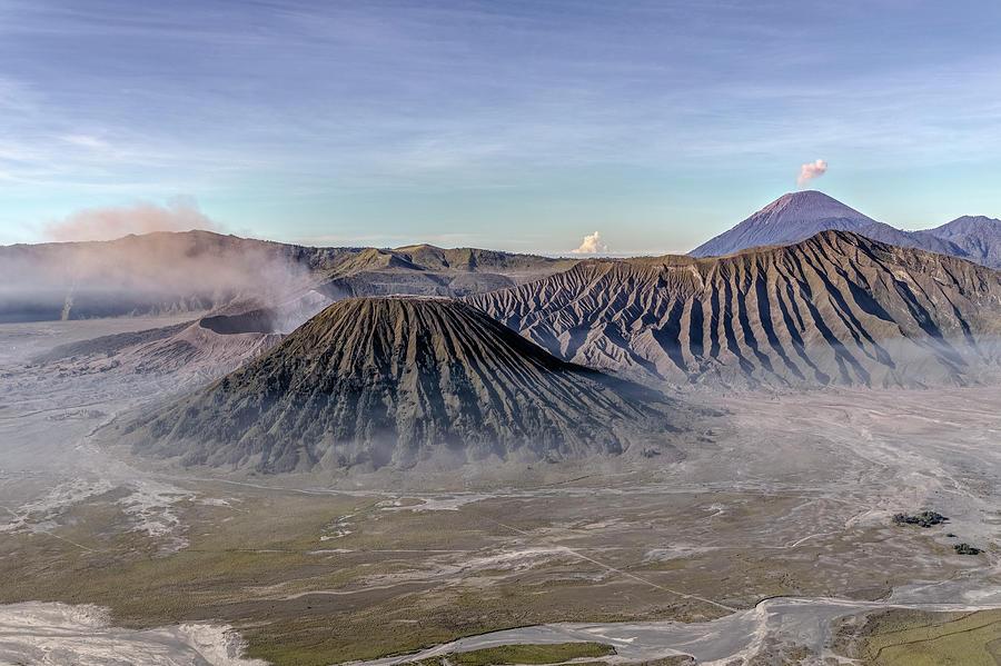 Bromo Tengger Semeru National Park Photograph - morning light Mount Bromo - Java by Joana Kruse