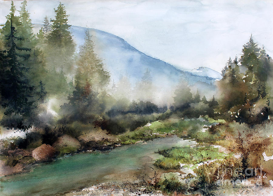 Alaska Painting - Morning Mist by Monte Toon