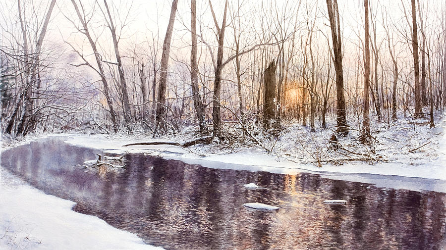 Stream Painting - Morning On Monocacy by Steven J White PWS