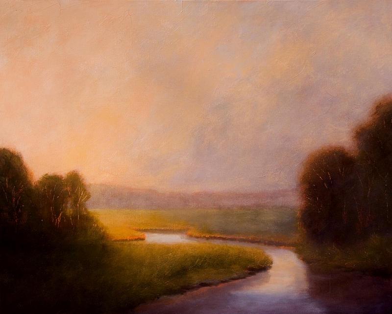 Landscape Painting - Morning Stillness by Jan Blencowe