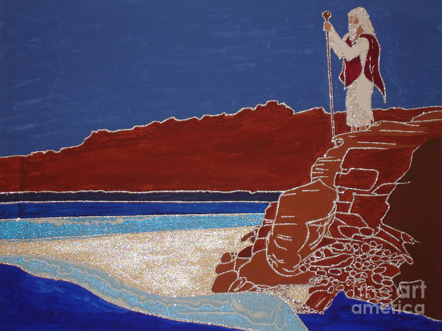 Christian Painting - Moses And The Red Sea by Daniel Henning