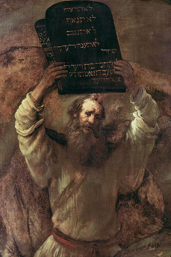 Moses Smashing The Tablets Of The Law Painting By Rembrandt