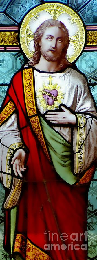 Sacred Heart Of Jesus Photograph - Most Sacred Heart Of Jesus by Elizabeth Duggan