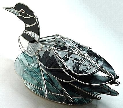 Mother And Child Glass Art by Karen Ichino