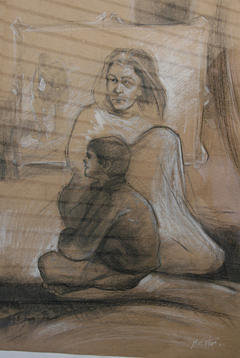 Mother Drawing by Yaghoob