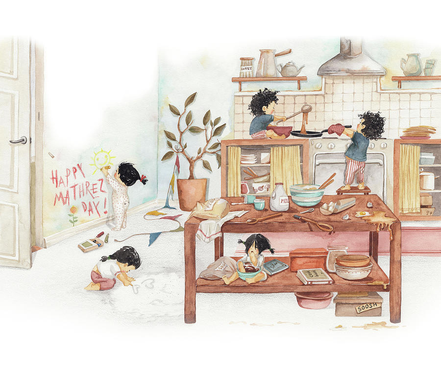 Soosh Drawing - Mothers Day Surprise by Soosh