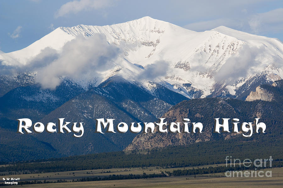 Mount Princeton In The Collegiate Peaks Wilderness Photograph