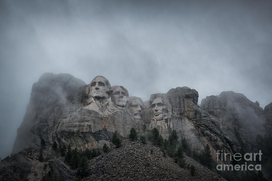 Mount Rushmore Break In The Clouds Pano Photograph
