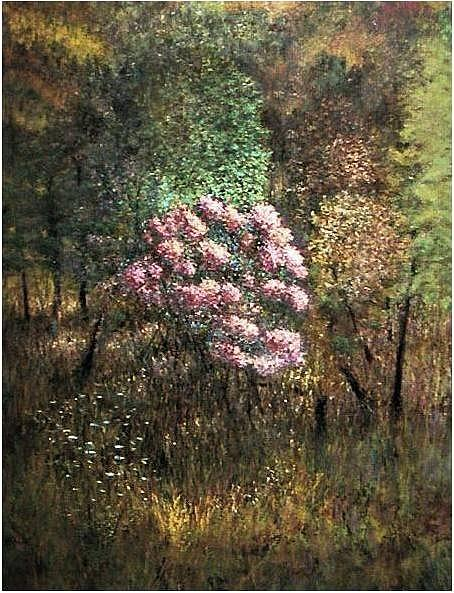 Bushes Painting - Mountain Laurel by Brian Higgins