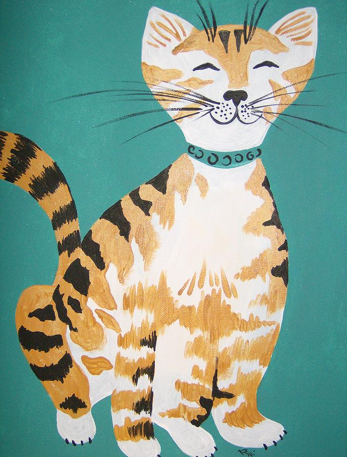 Cat Painting - Mr. Tabby by Leslie Manley