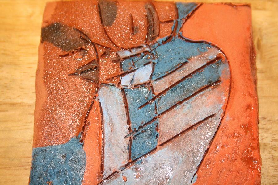 Jesus Ceramic Art - Mum 3 - Tile by Gloria Ssali