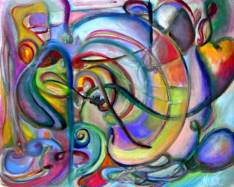 Music Abstract Painting by Kathy Dueker