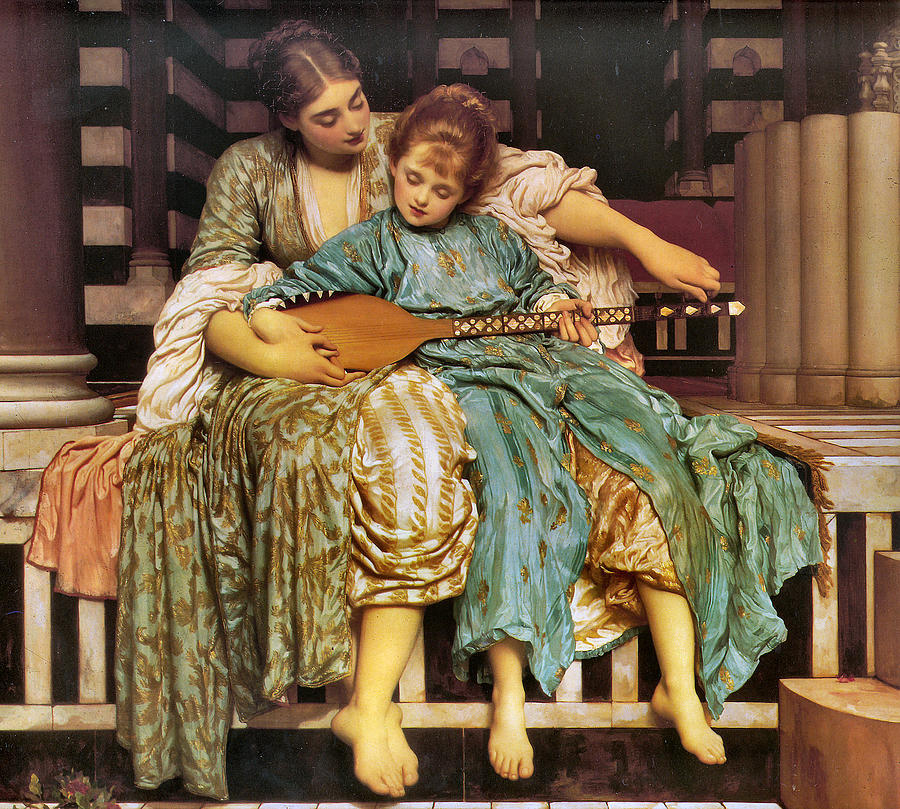 Music Lesson 1877 Painting by Lord Frederick Leighton