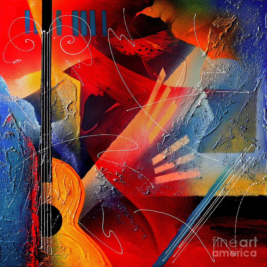 Abstract Painting - Musical Textures Series by Andrea Tharin