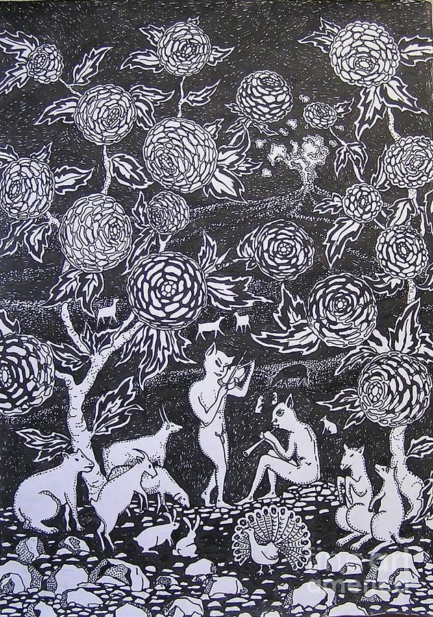 Surrealism Drawing - Musicians by Andrey Soldatenko
