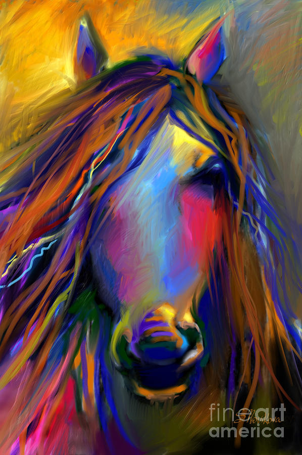 Mustang Painting - Mustang Horse Painting by Svetlana Novikova