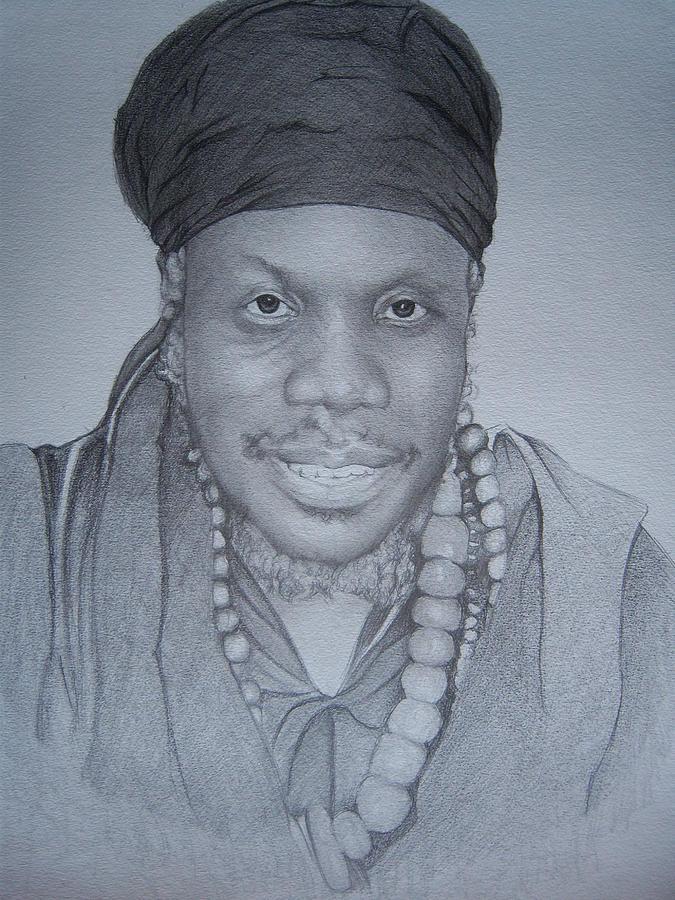 Celebrity Drawing Drawing - Mutabaruka by Jeffrey Samuels