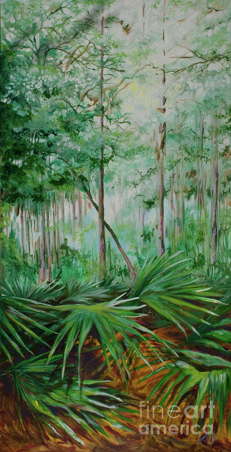 Palmettos Painting - My Backyard by Michele Hollister - for Nancy Asbell