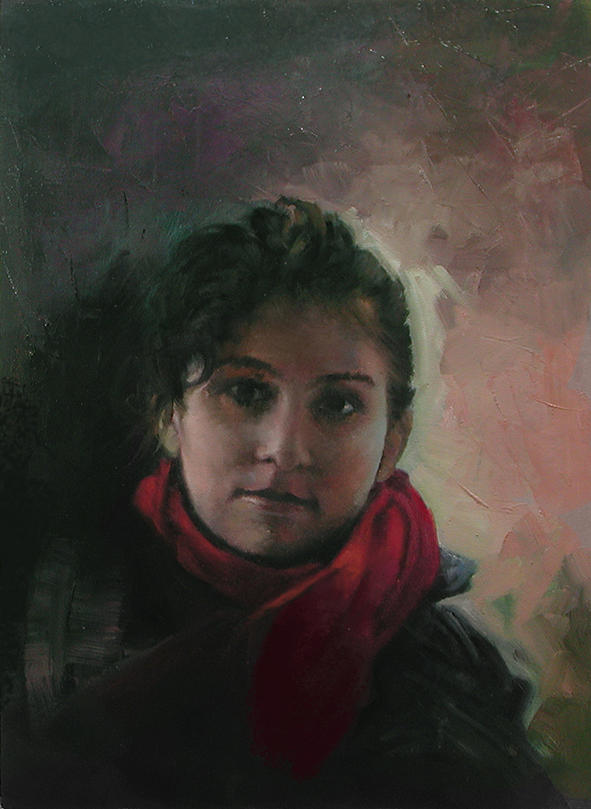 Portrait Painting - My Daughter by Demetrios Vlachos